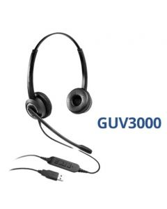 Grandstream GUV3000 HD USB Headset with noise cancellation